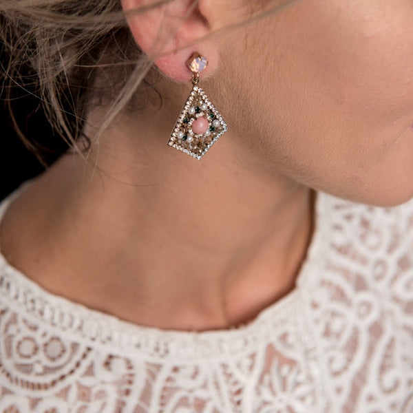 Camille Drop Earrings Theia - Cork Collection
