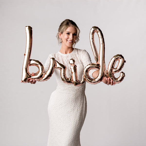 Bride Script Balloon Banner North Star Balloons - Cork Collection