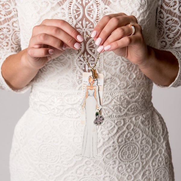 Bride Ornament Charm CR Gibson - Cork Collection