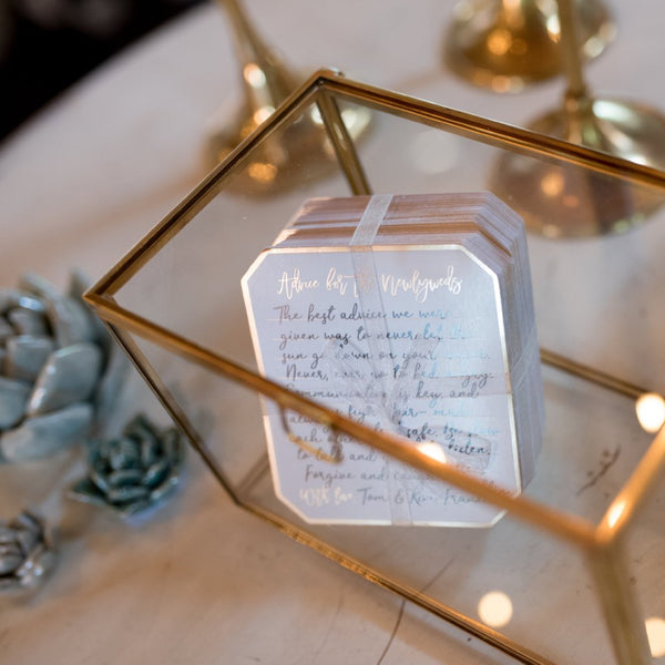 Glass Box With Advice Cards CR Gibson - Cork Collection