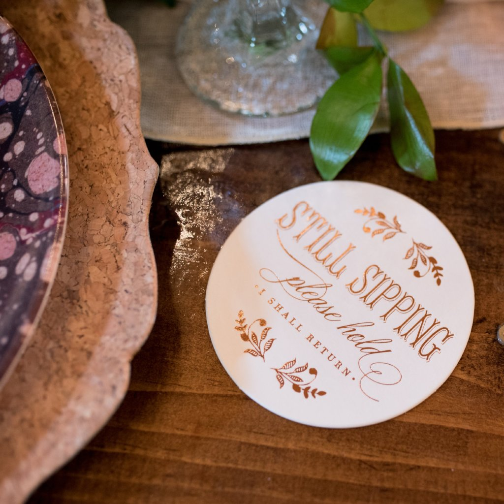 Mr & Mrs Rose Gold Coasters