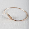 Micro Pave Laurel Leaf Bangle - Antique Gold