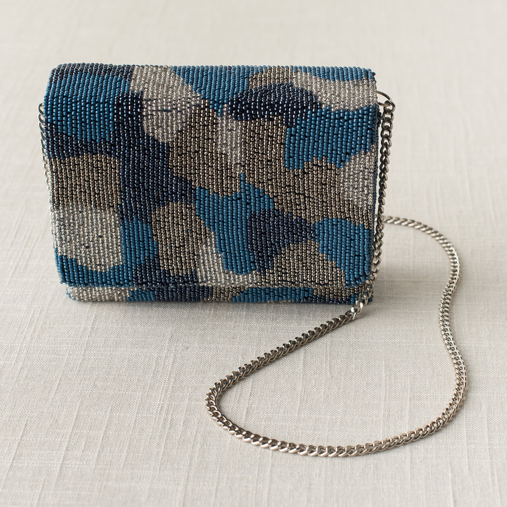 Navy Camo Box Bag