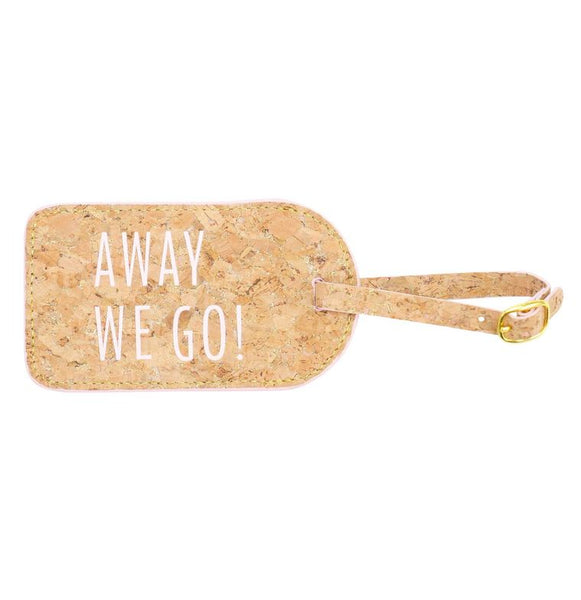 Away We Go! Luggage Tag Hallmark Home & Gifts - Cork Collection