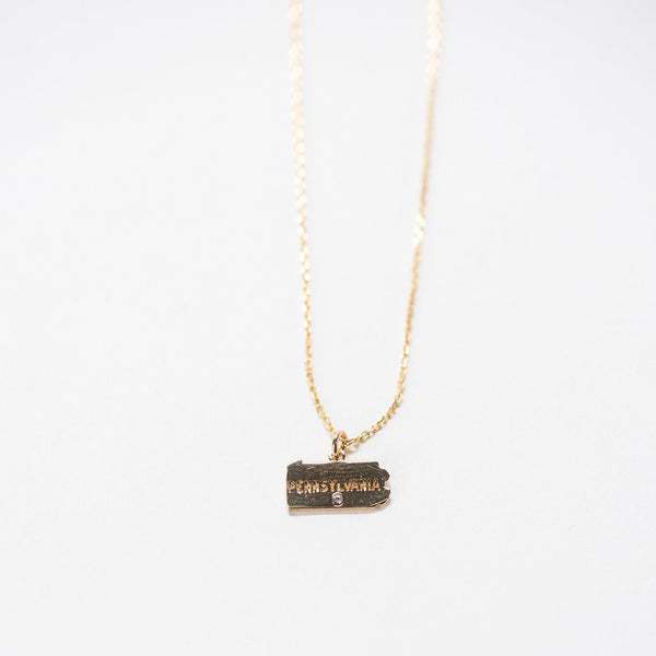 In a State Necklace - Pennsylvania Violet + Brooks - Cork Collection