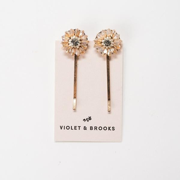 Jewel Hair Pin Duet Violet + Brooks - Cork Collection