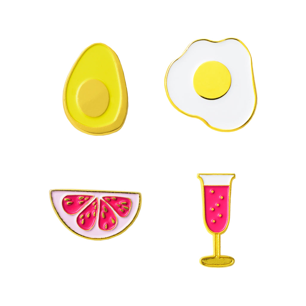 Brunch Enamel Pin Set