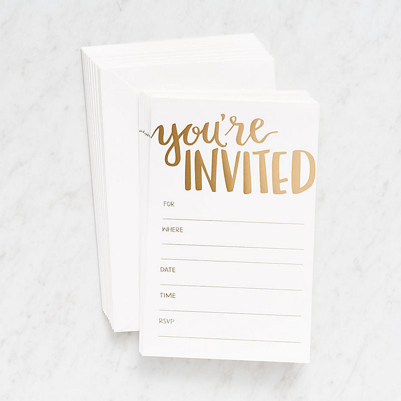 Gold Foil Fill In Invitations Papersource - Cork Collection