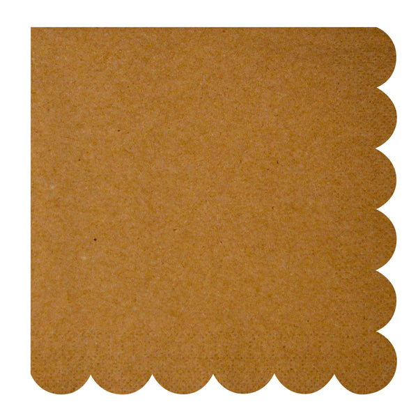Kraft Large Napkins Meri Meri - Cork Collection