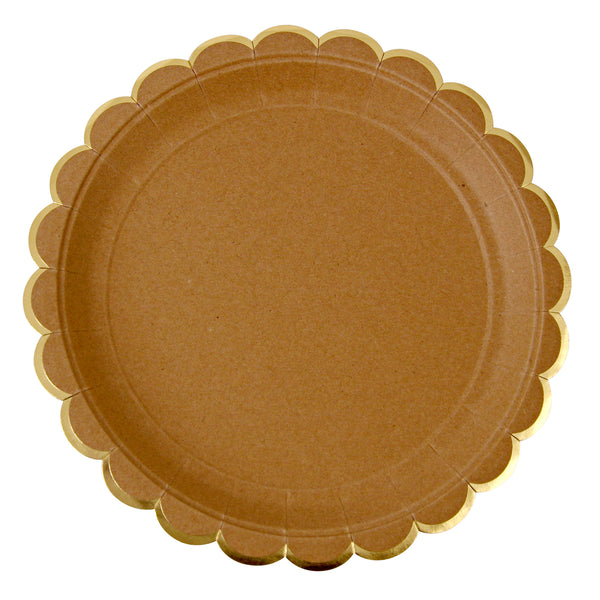 Kraft Large Plates Meri Meri - Cork Collection