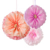 Decadent Decs Blush Flower Pom Poms