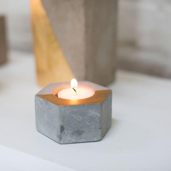 Hexagon Deux Candleholder Accent Decor - Cork Collection