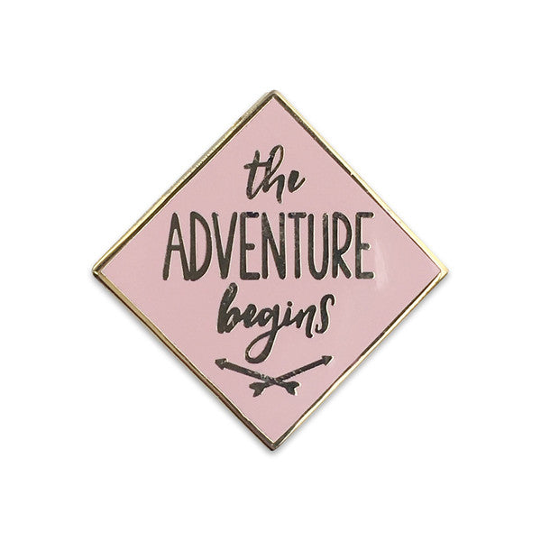 Adventure Begins Pin Wildflower + Co - Cork Collection