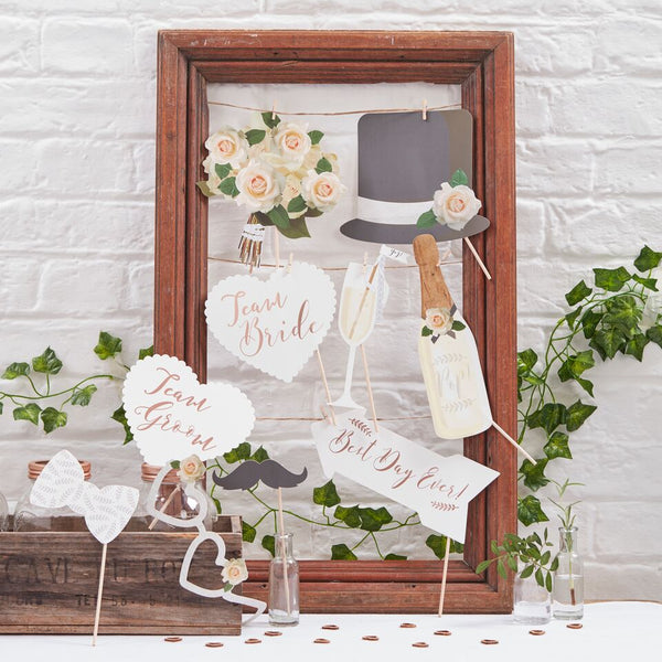 Photo Booth Props - Beautiful Botanicals Ginger Ray - Cork Collection