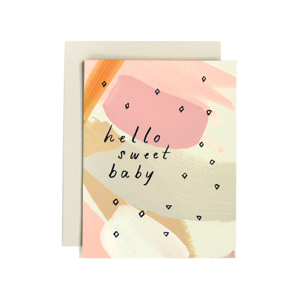 Hello Sweet Baby Card