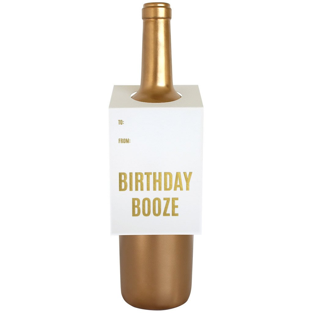 Birthday Booze Wine & Spirit Tag By Chez Gagne Chez Gagne - Cork Collection