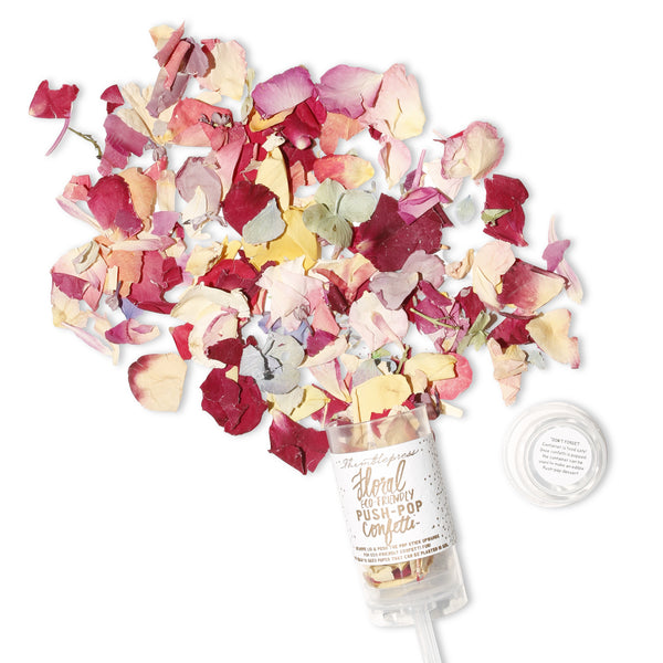Floral Confetti Push-Pop