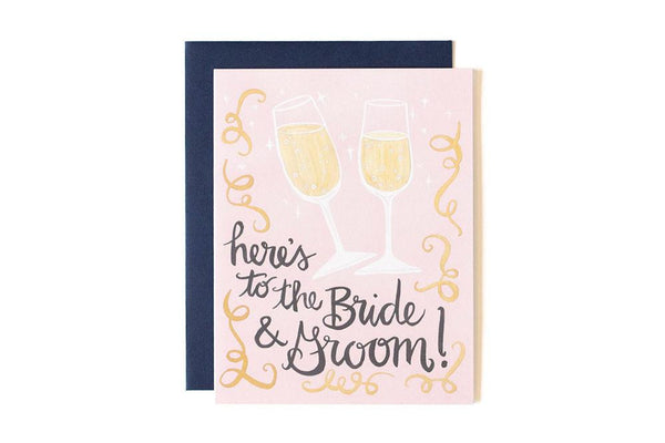 Here's To The Bride & Groom Card 1canoe2 - Cork Collection
