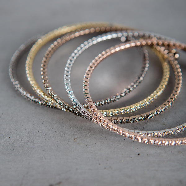 CZ Bangle Bracelet Theia - Cork Collection