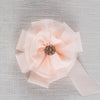 Child's Peach Brooch Miss Rose Sister Violet - Cork Collection