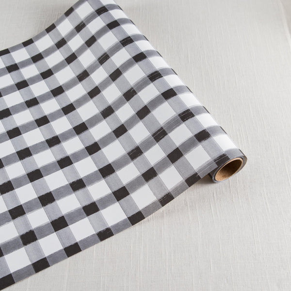 Black Check Runner Hester & Cook - Cork Collection