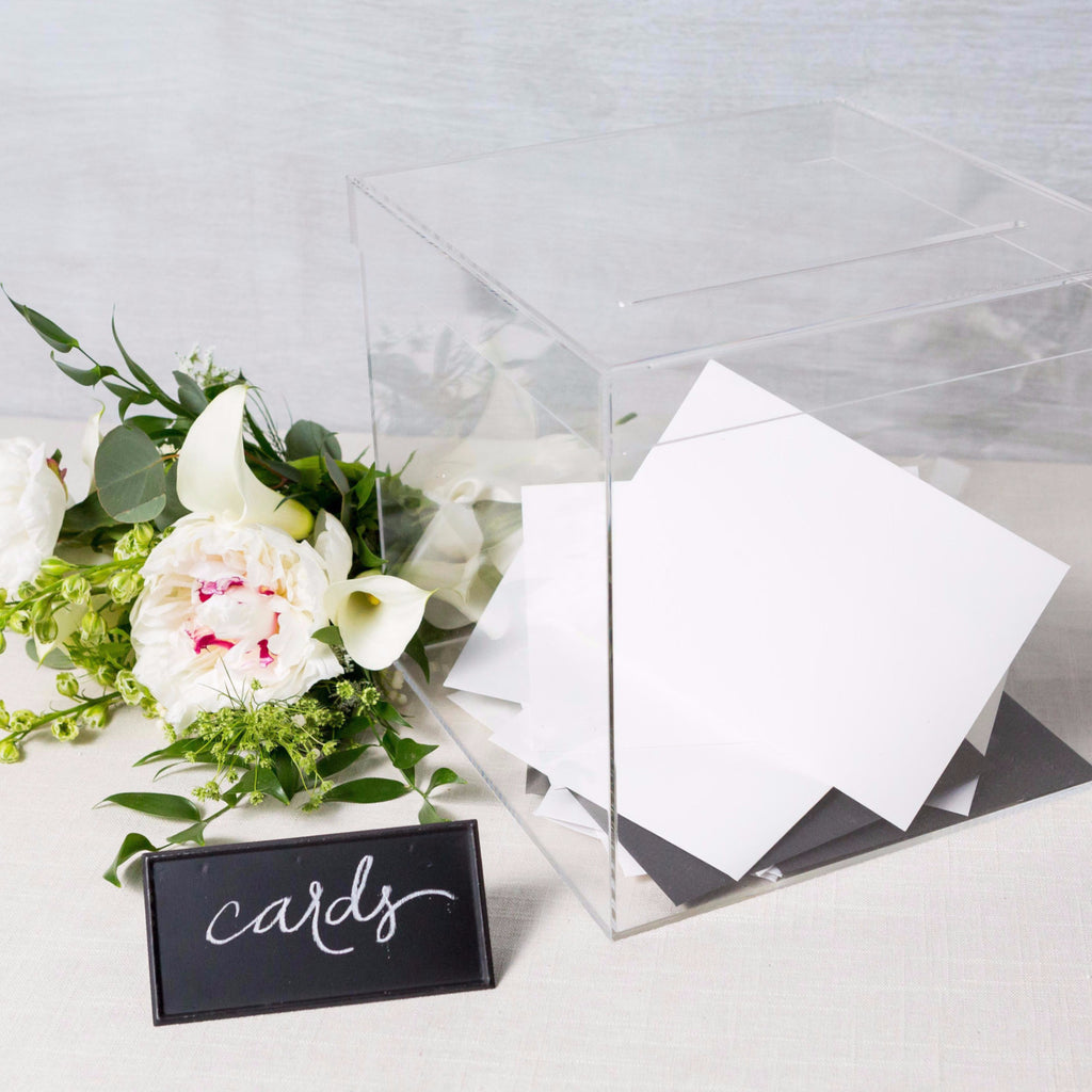 Clear Acrylic Card Box Weddingstar - Cork Collection