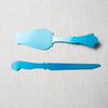 Turquoise Cake Knife & Server Set Sabre - Cork Collection