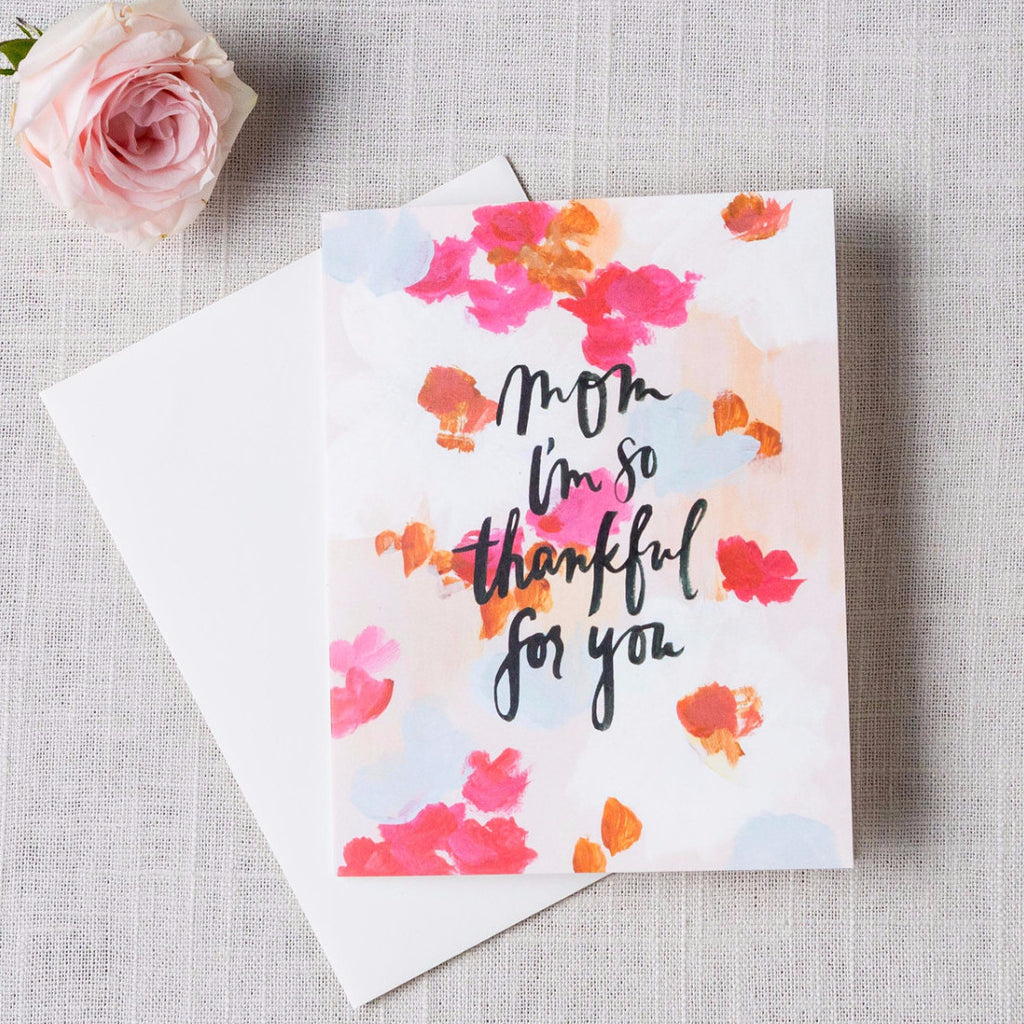 mom thankful for you card cork collection