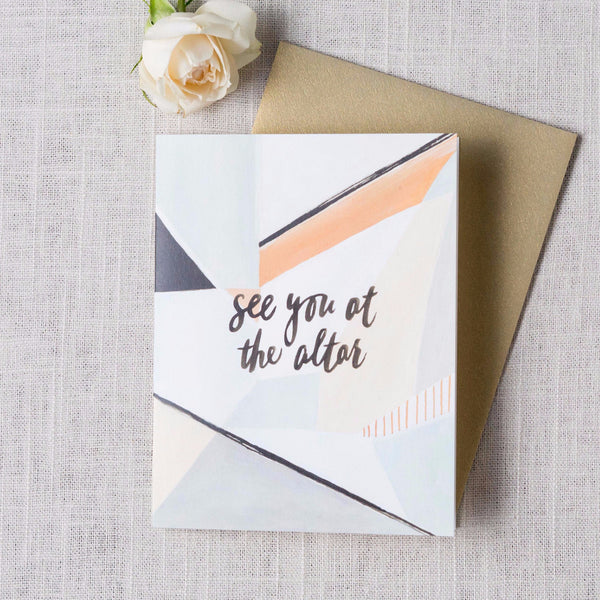 See You at the Altar Card