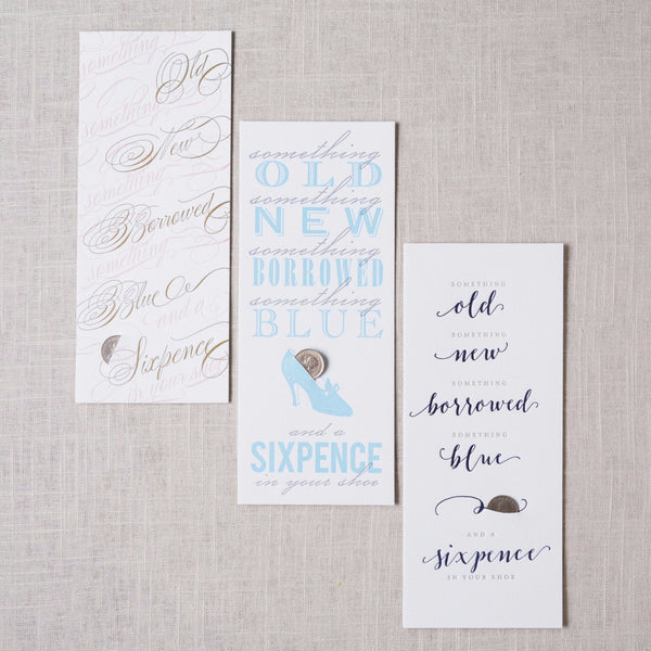 Single Sixpence Card & Coin Haute Papier - Cork Collection