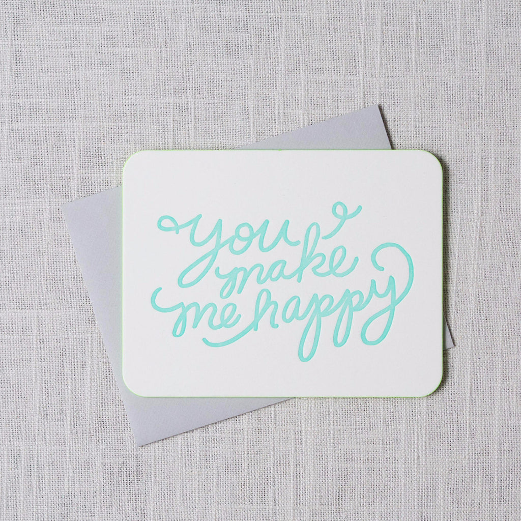 You Make Me Happy Card Moglea - Cork Collection
