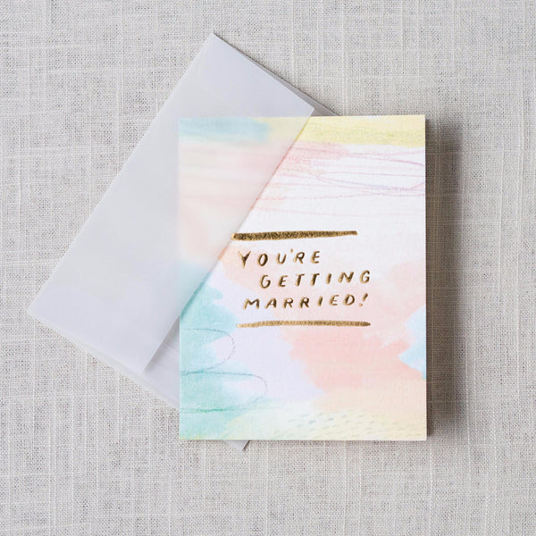 You're Getting Married Card Moglea - Cork Collection