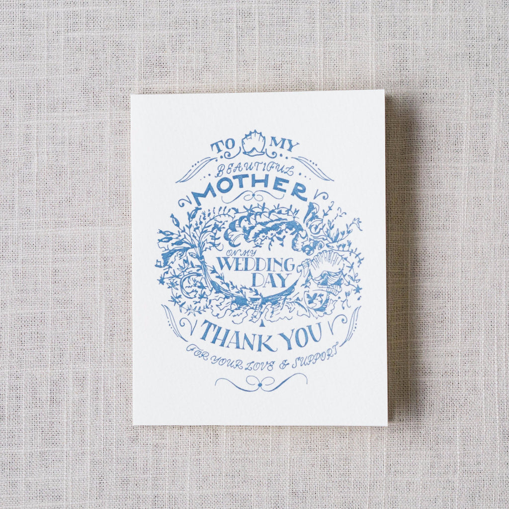 For My Mother Wedding Day Card