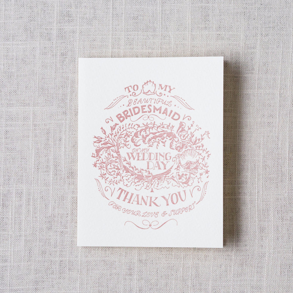 For My Bridesmaid, Wedding Day Card Antiquaria - Cork Collection