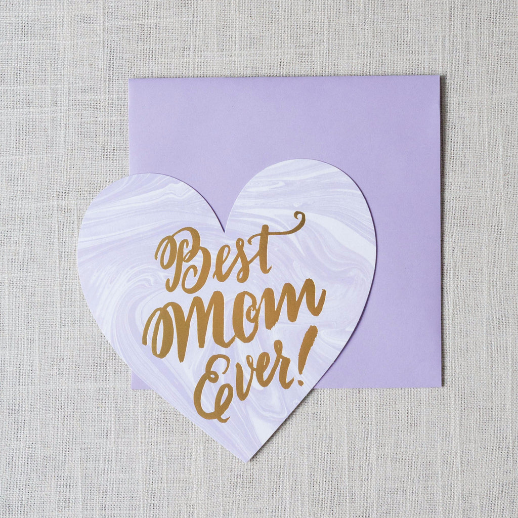 Best Mom Ever Card The Social Type - Cork Collection
