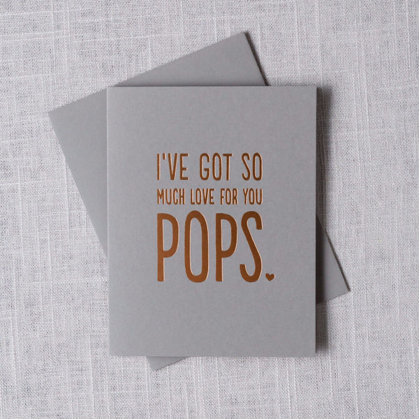 I've Got So Much Love for You Pops Card The Social Type - Cork Collection