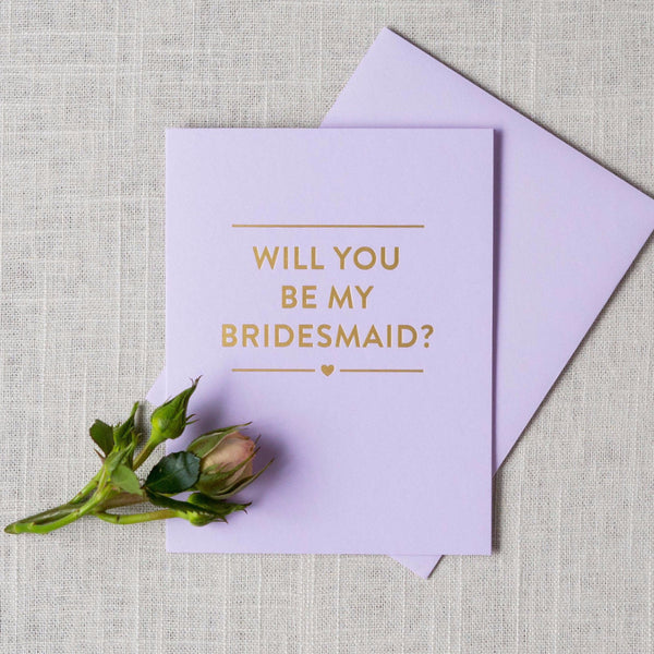 Gold Foil Will You Be My... Card The Social Type - Cork Collection