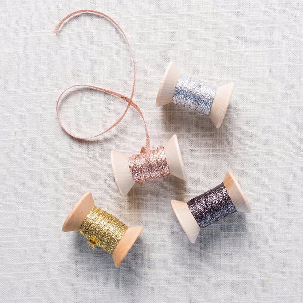Braided Metallic Ribbon Carta - Cork Collection