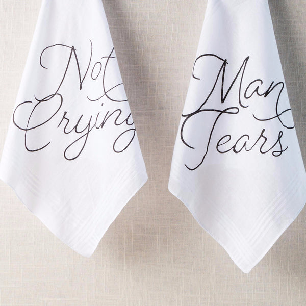 Traditional Not Crying & Man Tears Handkerchief