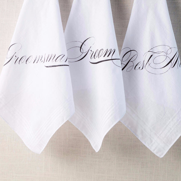 Traditional Groom & Groomsmen Handkerchief