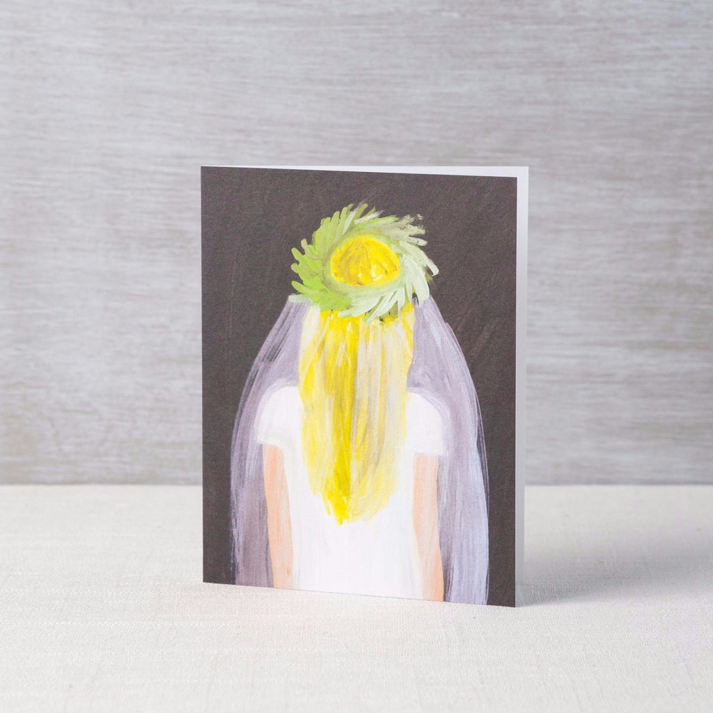 Blonde Bride Card
