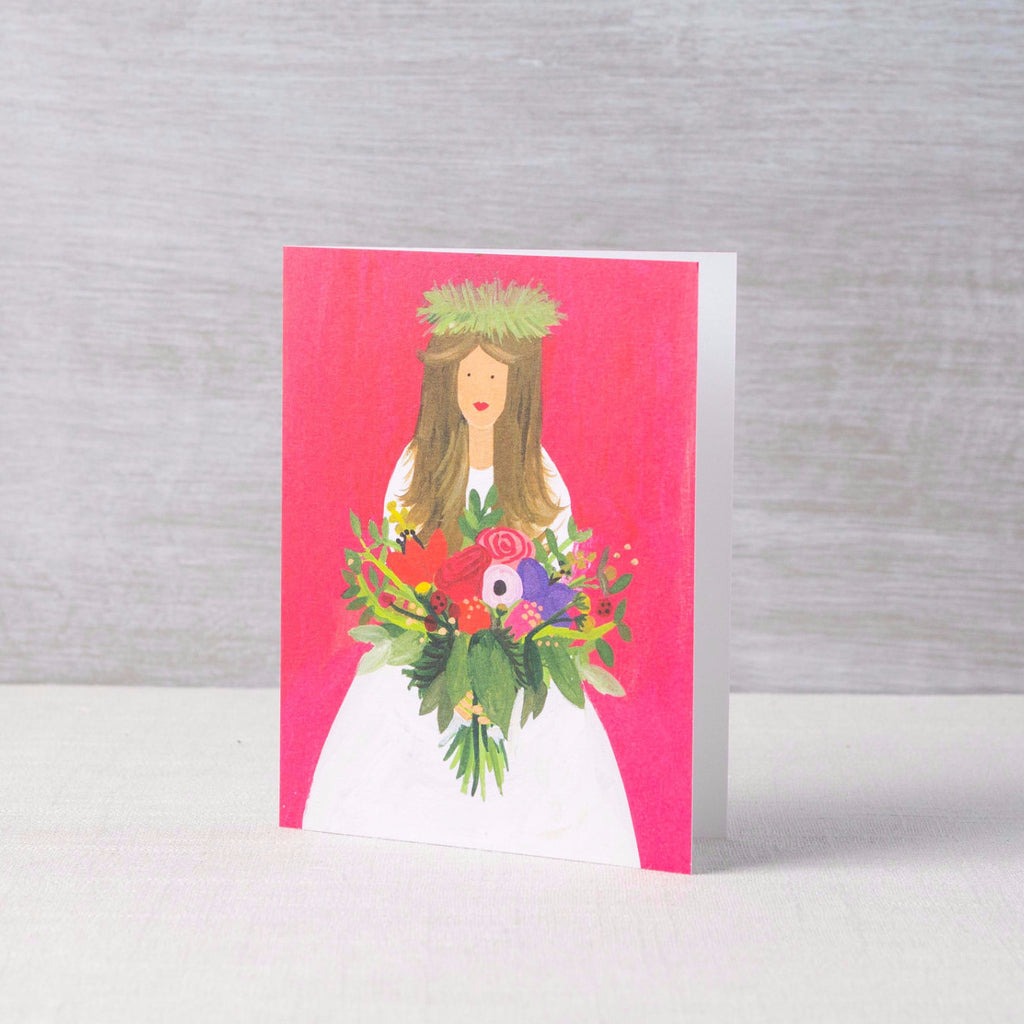Brunette Bride Card Thimblepress - Cork Collection