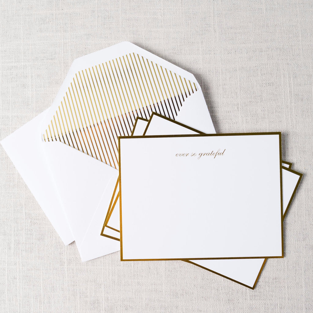 Classic Grateful Card Set Sugarpaper - Cork Collection