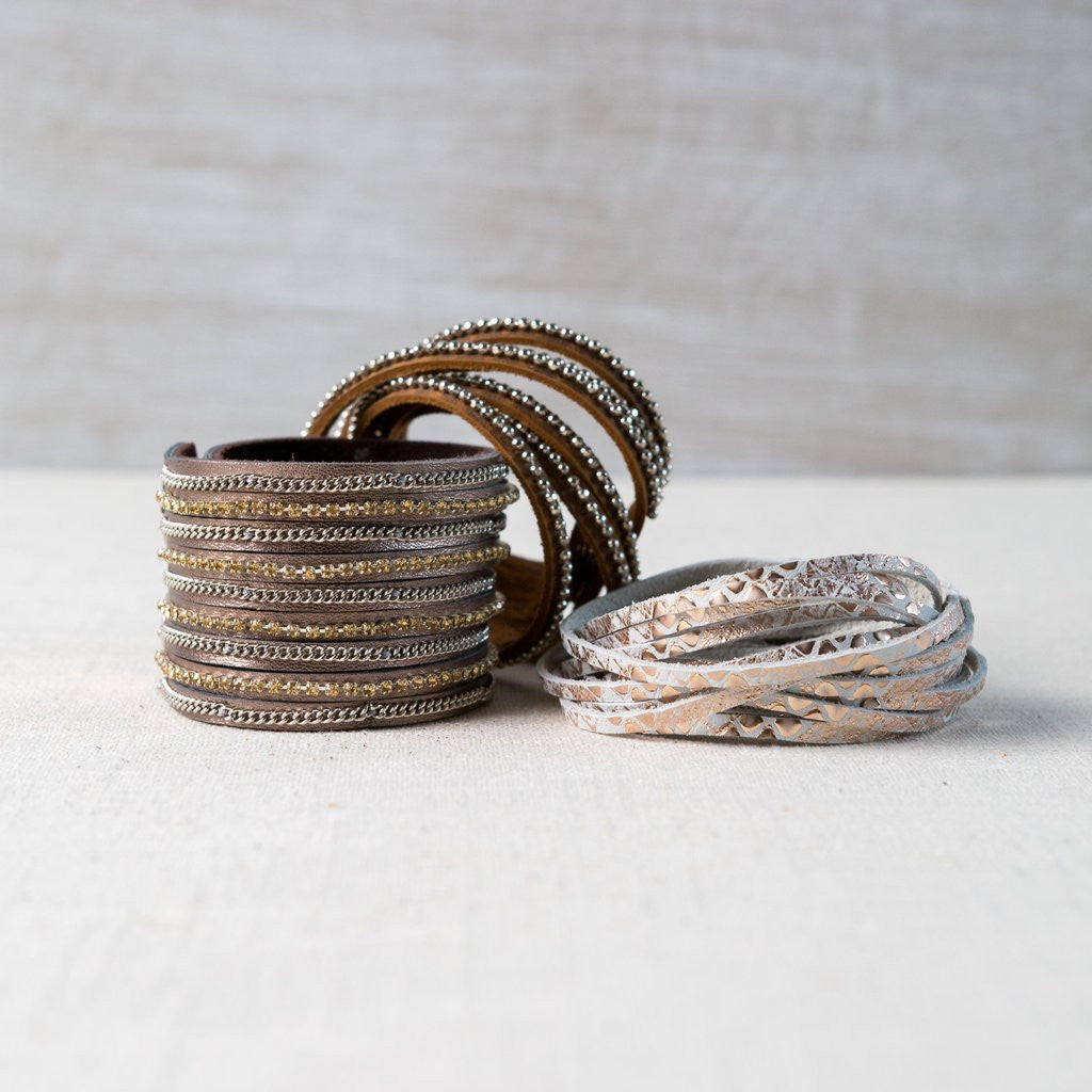 The Eve Leather Wrap Bracelet Collection
