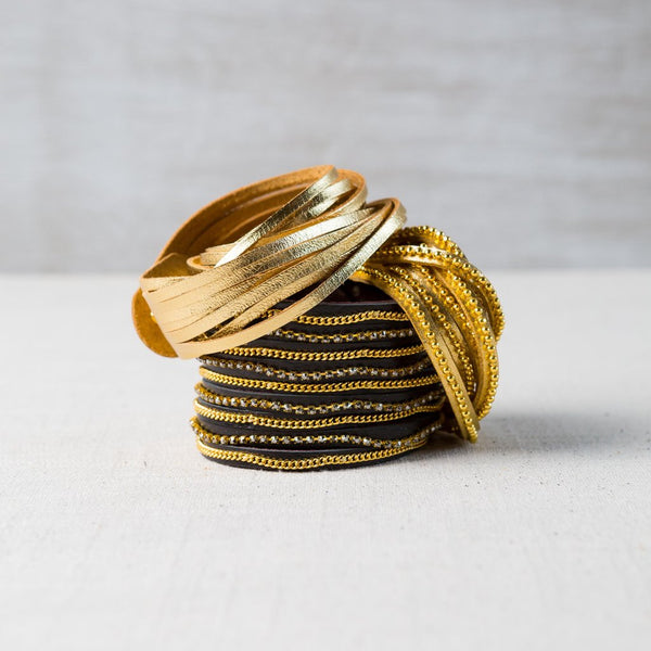 The Vivienne Leather Wrap Bracelet Collection