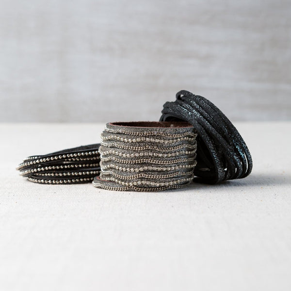 The Dylan Leather Wrap Bracelet Collection