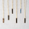 Gold Initial Bar Necklace Lotus Jewelry Studio - Cork Collection