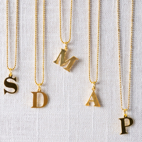 Cipher Initial Necklace