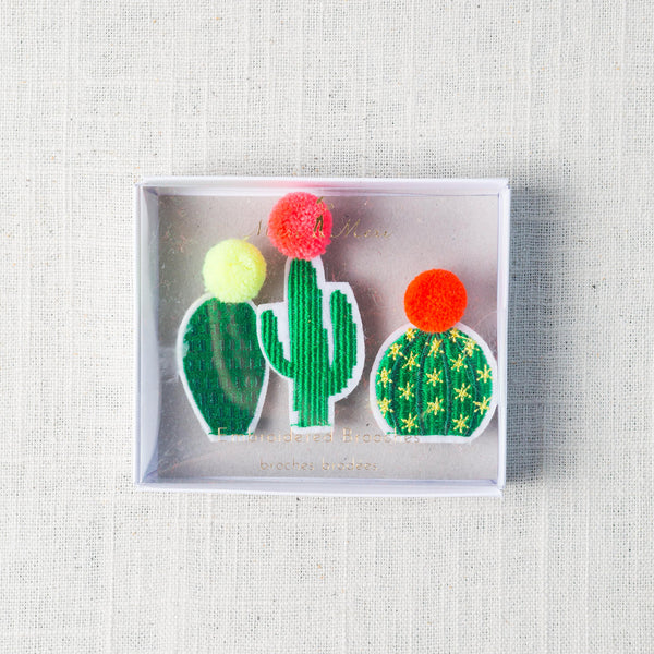 Cacti Brooches