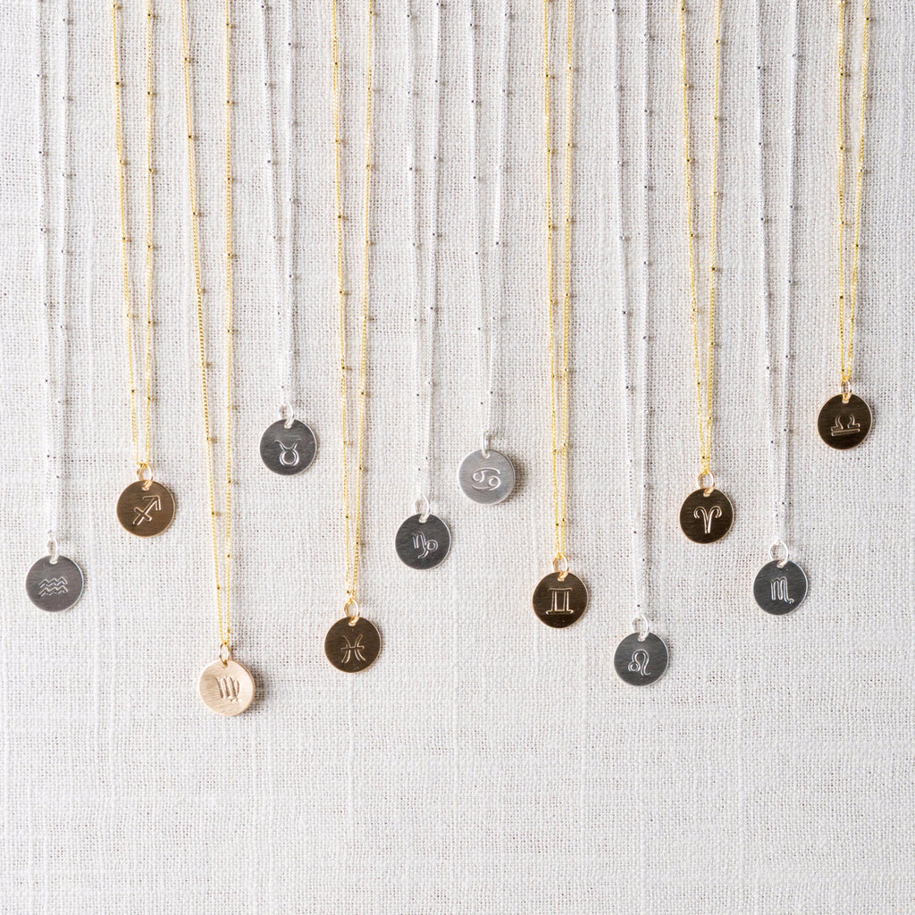 Token Zodiac Necklaces